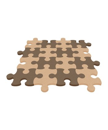 Brown Puzzle Mat - Set of Eight