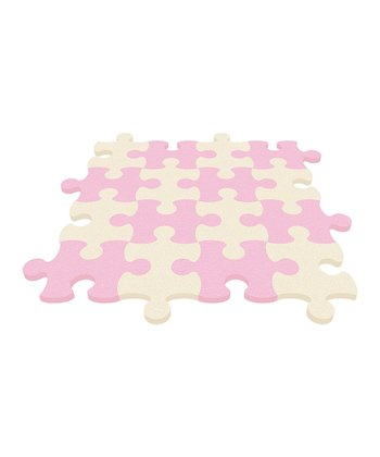 Baby Pink Puzzle Mat - Set of Eight