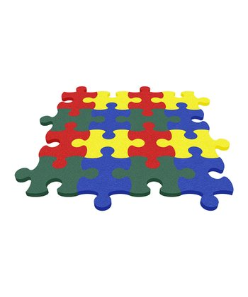 Green Puzzle Mat - Set of Eight
