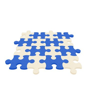 Light Blue Puzzle Mat - Set of Eight