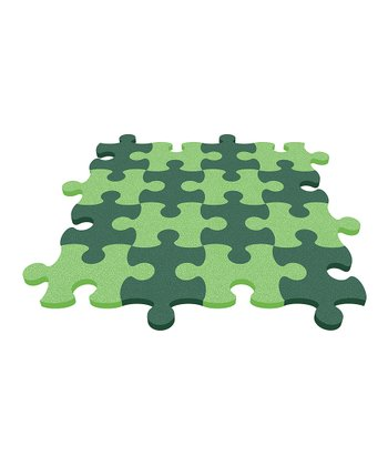 Lime Green Puzzle Mat - Set of Eight