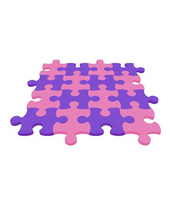 Purple Puzzle Mat - Set of Eight