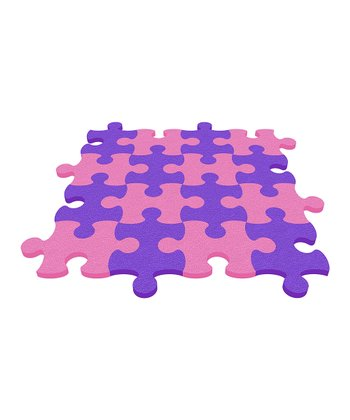 Pink Puzzle Mat - Set of Eight