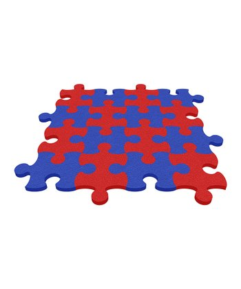 Royal Blue Puzzle Mat - Set of Eight
