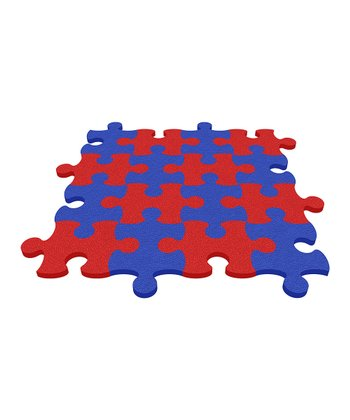 Red Puzzle Mat - Set of Eight
