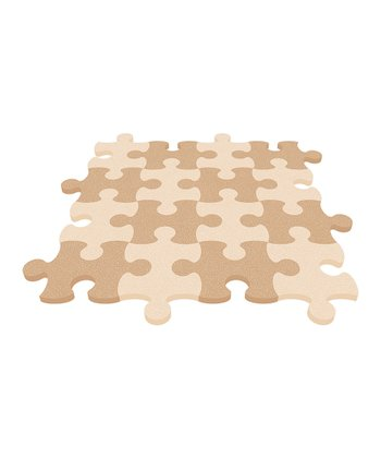 Tan Puzzle Mat - Set of Eight