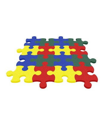 Yellow Puzzle Mat - Set of Eight