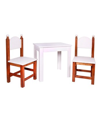 Antique White Three-Piece Table Set