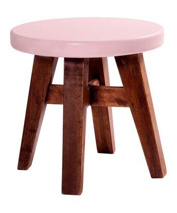 Antique Pink & Honey Stool