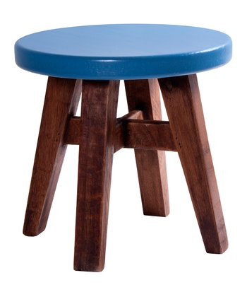 Antique Blue & Honey Stool