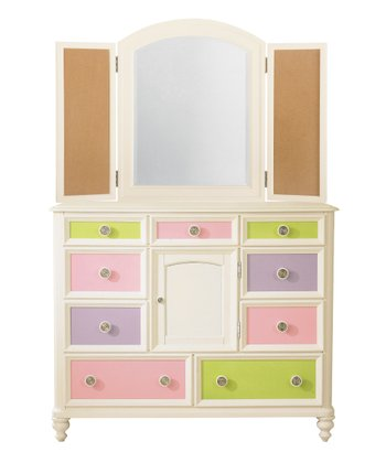 Vanilla Pawsitively Yours Bureau & Photo Mirror