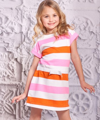 Orange Stripe Mariana Dress - Infant & Toddler