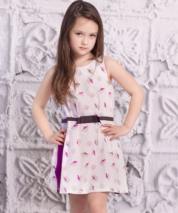 Purple Lia Dress - Infant, Toddler & Girls