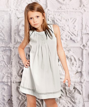 Gray Perla Dress - Infant, Toddler & Girls