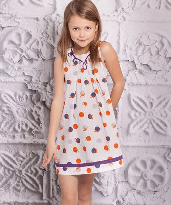 Orange & Purple Perla Dress - Infant & Toddler