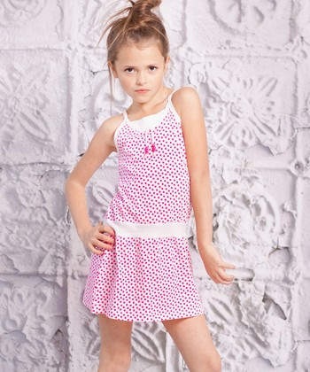 Red Polka Dot Spaggia Dress - Infant & Toddler