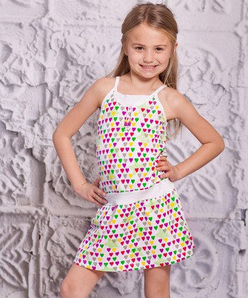 Purple Heart Spaggia Dress - Infant, Toddler & Girls