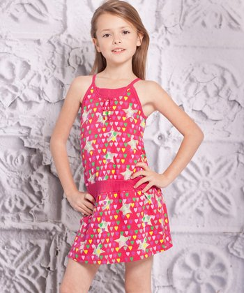 Pink Star Spaggia Dress - Infant, Toddler & Girls