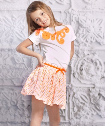 Orange Luna Top & Carina Skirt - Infant & Girls