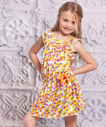 Yellow Polka Dot Alba Dress - Toddler