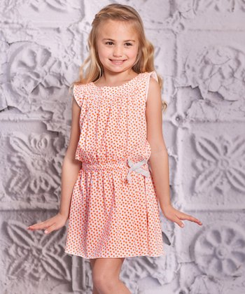 Orange Alba Dress - Infant, Toddler & Girls
