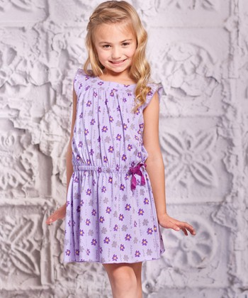 Purple Flower Alba Dress - Toddler