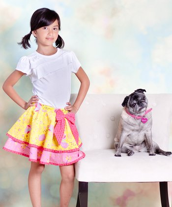 Yellow & Pink Nature Clair Tee & Skirt - Infant, Toddler & Girls