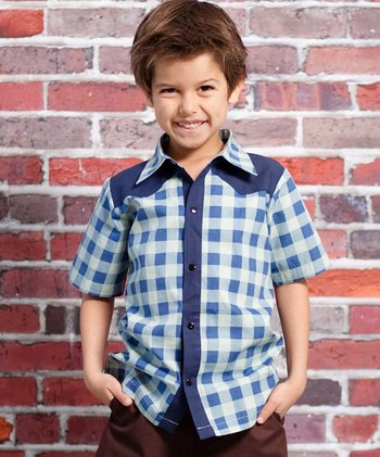 Blue Speed Racer Preston Button-Up - Infant & Toddler