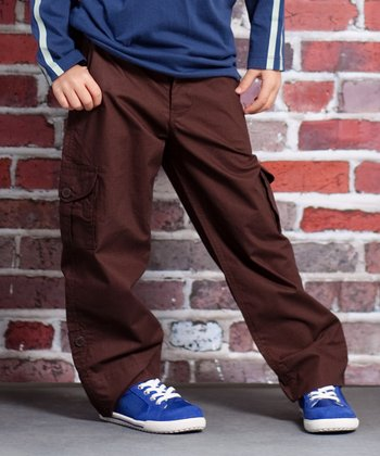 Brown Speed Racer Jackson Cargo Pants - Infant, Toddler & Boys