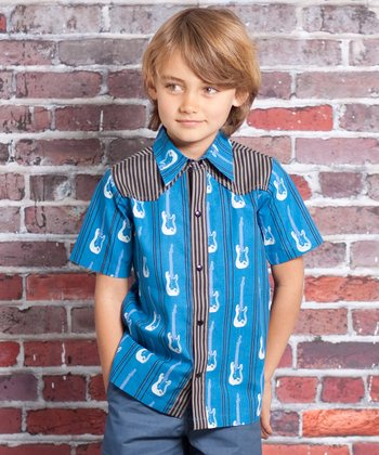 Blue Rockstar Preston Button-Up - Infant