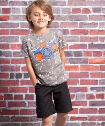 Gray Camera Hunter Tee & Shorts - Infant & Toddler