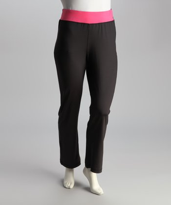 Pink Bootcut Yoga Pants - Plus
