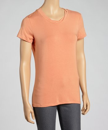 Papaya Short-Sleeve Top