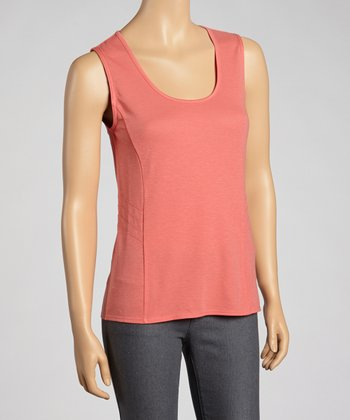 Guava Chelsea Sleeveless Scoop-Neck Top