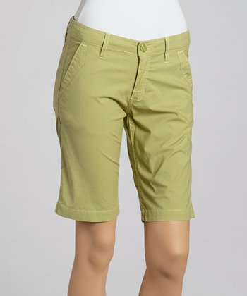 Pear Beach Girl Organic Bermuda Shorts