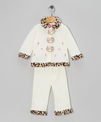 Light Beige Kitten Jacket & Pants - Infant