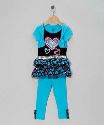 Aqua Hearts Tunic & Leggings - Infant