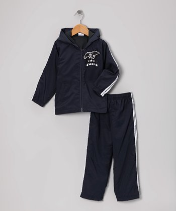 Navy 'Eagle' Warm-Up Jacket & Pants - Toddler & Boys