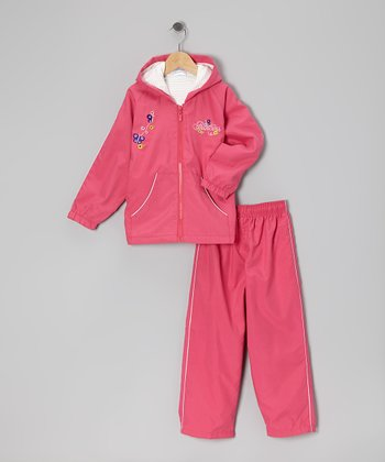 Fuchsia Bloom Warm-Up Jacket & Pants - Toddler & Girls