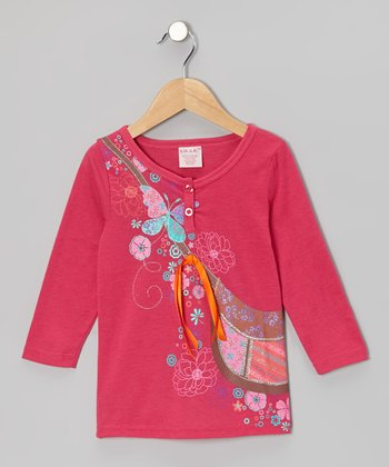 Fuchsia Purse Long-Sleeve Top