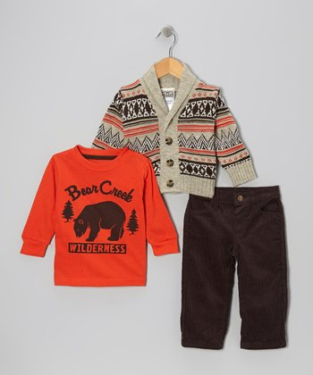 Beige Fair Isle Sweater Set - Infant & Toddler