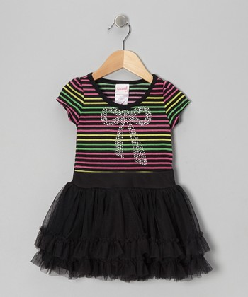 Neon & Black Tutu Dress - Toddler & Girls