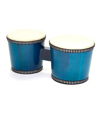 Transparent Blue Kids Wood Bongo