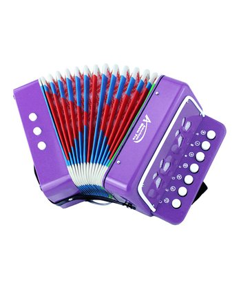 Purple Toy Button Accordion