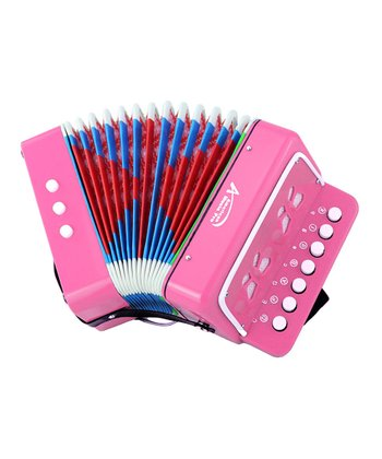 Pink Toy Button Accordion