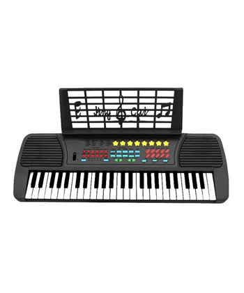 Black USA Music Pro 49 Key Electronic Keyboard with Microphone