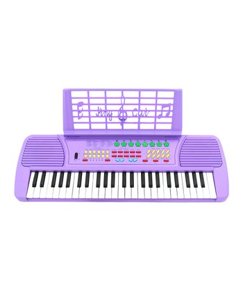 Purple USA Music Pro 49 Key Electronic Keyboard & Microphone