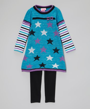 Blue Star Layered Tunic & Leggings - Infant & Toddler