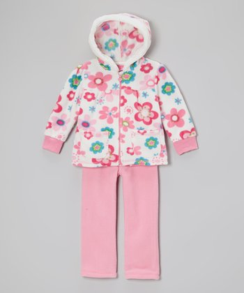 Pink Floral Hooded Jacket & Pants - Infant