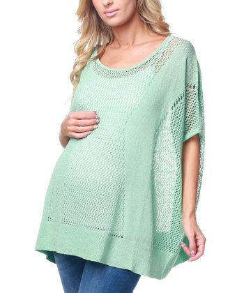 Mint Green Knit Maternity Top
